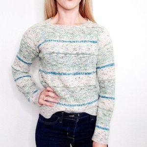 Sparrow Anthropologie Shimmer Fairisle Sweater 453